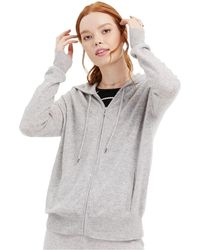 Charter Club Cashmere Zip-front Hoodie, Regular & Petite Sizes, Created For Macy's - Gray