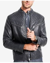 Guess - Jasper Quilted Racer Jacket - Lyst