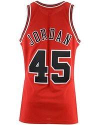 Mitchell & Ness - Michael Jordan Chicago Bulls Authentic Jersey - Lyst