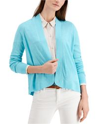 Charter Club - Petite Open-front Sweater, Created For Macy's - Lyst