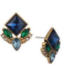 Carolee - Gold-tone Multi-stone Stud Earrings - Lyst