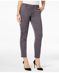 Style & Co. - Petite Embroidered Skinny Pants, Created For Macy's - Lyst