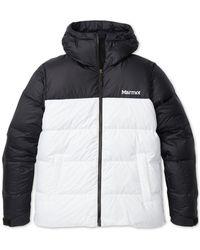 Marmot - Hooded Down Coat - Lyst