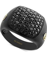 Effy Collection - Men's Black Sapphire Ring (3 Ct. T.w.) In Black Rhodium-plated Sterling Silver & 18k Gold - Lyst