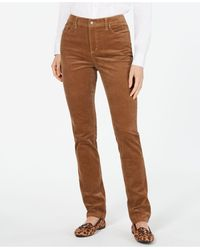 Charter Club Lexington Corduroy Tummy-control Pants, Created For Macy's - Brown