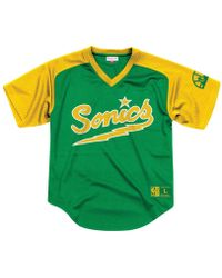 03d56539cfe9 Mitchell   Ness - Seattle Supersonics Final Seconds Mesh V-neck Jersey -  Lyst