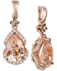Le Vian - Peach Morganite (2-3/8 Ct. T.w.) And Diamond (1/3 Ct. T.w.) Drop Earrings In 14k Rose Gold, Only At Macy's - Lyst