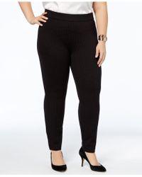 Anne Klein - Plus Size Dot-weave Skinny Pants - Lyst