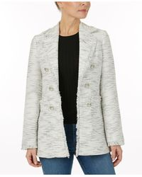 Laundry by Shelli Segal Tweed Blazer - White