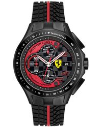 Ferrari - Watch, Men's Chronograph Race Day Red And Black Silicone Strap 44mm 830077 - Lyst