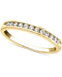 Macy's - Diamond Band Ring In 14k White Gold (1/4 Ct. T.w.) - Lyst