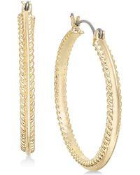Charter Club - Gold-tone Rope-edge Hoop Earrings, Created For Macy's - Lyst