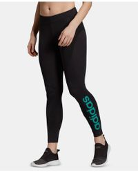 28d9ed0362041 adidas Originals Linear Leggings in Gray - Lyst