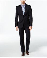 Calvin Klein - Suit, Navy Solid Slim Fit - Lyst