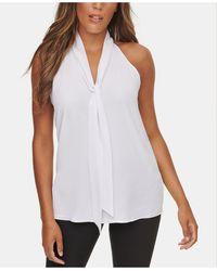 Calvin Klein Tie-neck Blouse - White