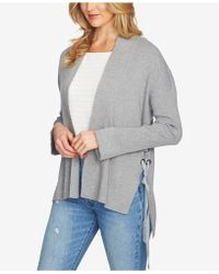 1.STATE - Cotton Lace-up Cardigan - Lyst