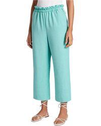 Tahari Paperbag-waist Cropped Pants - Green