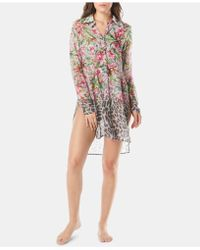 Carmen Marc Valvo - Printed Dress-shirt Cover-up - Lyst