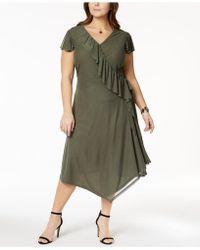 Love Scarlett - Plus Size Flutter-sleeve Wrap Dress - Lyst