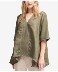 DKNY - Linen Trapeze Top, Created For Macy's - Lyst