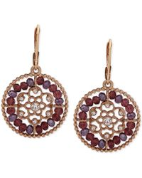 Lonna & Lilly - Gold-tone Beaded Filigree Drop Earrings - Lyst