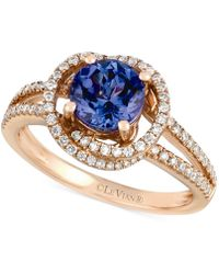 Le Vian - Tanzanite (1-1/5 Ct. T.w.) And Diamond (3/8 Ct. T.w.) Ring In 14k Rose Gold - Lyst