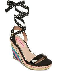 Betsey Johnson - Colvin Tie-up Wedge Sandals - Lyst