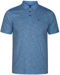 Hurley Men's Heathered Polo - Blue