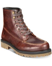 Frye - Pine Lug Leather Work Boots, Created For Macy's - Lyst