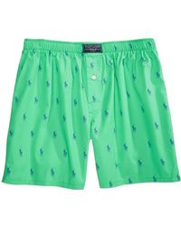 Polo Ralph Lauren - Printed Woven Boxers - Lyst