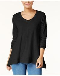 Style & Co. - V-neck Swing Top, Created For Macy's - Lyst