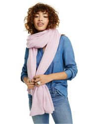 Charter Club Oversized Cashmere Scarf, Created For Macy's - Blue