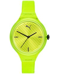 PUMA Ladies Contour Watch 36mm - Yellow