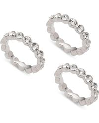 Givenchy - 3-pc. Set Crystal Bezel Stackable Rings - Lyst