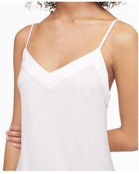Calvin Klein Satin-trim Chemise Nightgown - White