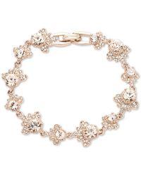 Marchesa Rose Gold-tone Crystal Flex Bracelet - Pink