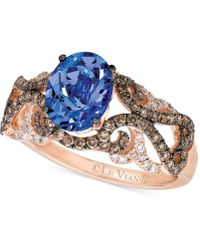Le Vian - Tanzanite (1 Ct. T.w.) And Diamond (5/8 Ct. T.w.) Ring In 14k Rose Gold - Lyst