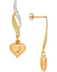 8b1afaca7 Giani Bernini Tri-tone Multi-hoop Drop Earrings In 18k Gold-plate, Rose Gold-plate,  And Sterling Silver in Metallic - Lyst