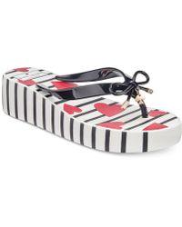 Kate Spade - Rhett Striped Wedge Sandals - Lyst