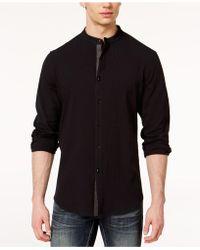 INC International Concepts - Seersucker Band-collar Shirt, Created For Macy's - Lyst