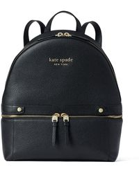 Kate Spade The Day Pack Medium Leather Backpack - Black