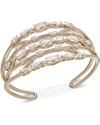 Danori - Crystal & Stone Openwork Cuff Bracelet, Created For Macy's - Lyst