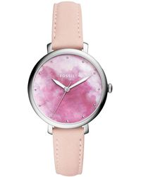 Fossil - Jacqueline Blush Leather Strap Watch 36mm - Lyst