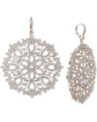 Marchesa - Gold-tone Crystal & Imitation Pearl Filigree Drop Earrings - Lyst