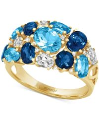 Effy Collection - Blue Topaz (4-3/4 Ct. T.w.) And Diamond Accent Ring In 14k Gold - Lyst