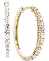 Macy's - Diamond Hoop Earrings (1 Ct. T.w.) - Lyst