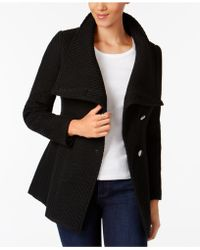 INC International Concepts - Asymmetrical Belted Knit Walker Coat - Lyst