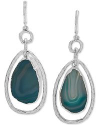Lonna & Lilly - Silver-tone Stone Orbital Drop Earrings - Lyst