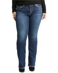 Silver Jeans Co. Trendy Plus Size Suki Slim Bootcut Jeans - Blue