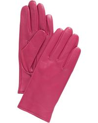 Charter Club Cashmere Lined Leather Tech Gloves, Created For Macy's - Pink